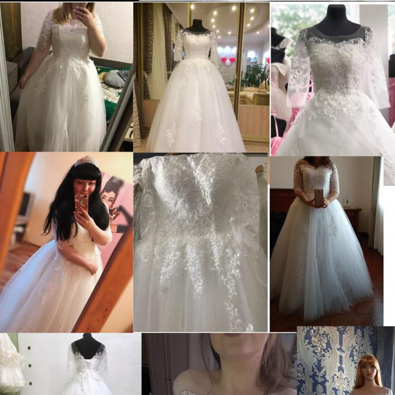 Image 5 - New Arrival Vestido De Noiva 2019 Long Sleeve Wedding Dresses Tulle Lace Bride Dresses Wedding Gowns Vintage Wedding Dresses-in Wedding Dresses from Weddings & Events