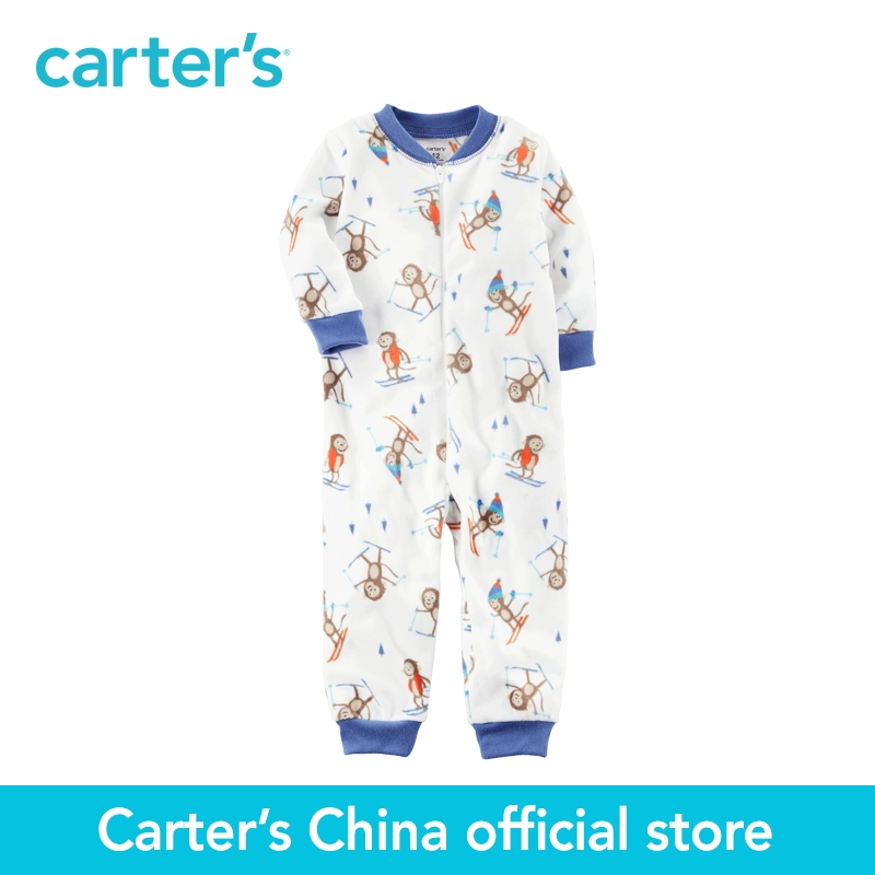 Carter's 1pcs baby children kids 1-Piece Footless Fleece PJs 327G232,sold by Carter's China official store  carter s 1 pcs baby children kids long sleeve embroidered lace tee 253g688 sold by carter s china official store