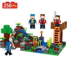 A minha Aldeia Blocos de Construção Educacional Tijolos de Construção Brinquedos Para As Crianças do Meu Mundo Compatível LegoINGLYS Minecrafted Conjunto