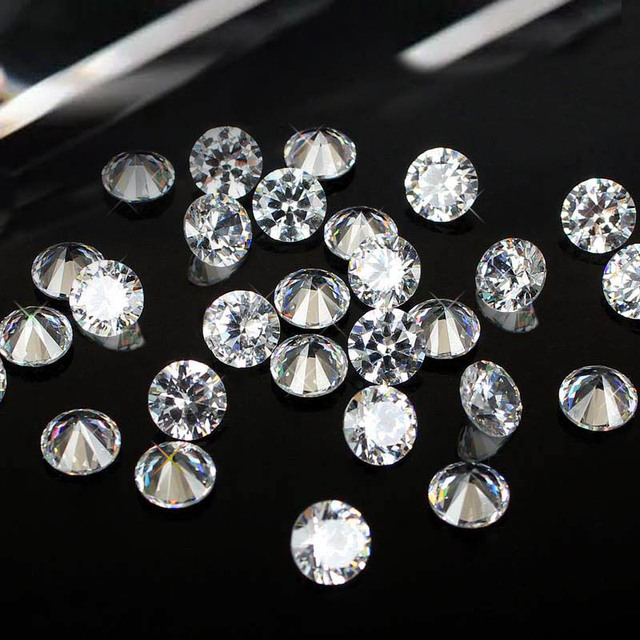 Shiny Rhinestones 1000pcs 1-3.5mm Crystal Material Clear Color AAAAA Brilliant Cuts Round Cubic Zirconia Stones DIY Jewelry
