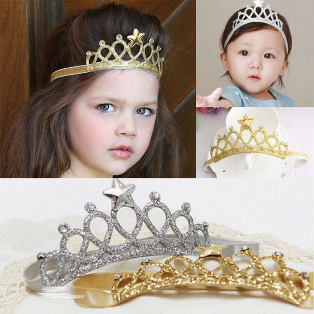 Newborn Infant Baby Boy Girl Crown Star Headband Birthday Hair Band  Accessories 9ce211cb1a0