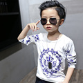 17 children wear long sleeved t-shirt t-shirt boys spring children new tide stretch cotton shirt blouse