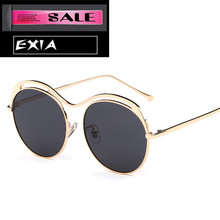 Women Sunglasses Round Shape Frame Gold Frame Can be with Optical Lenses EXIA OPTICAL KD-0755 Series