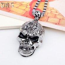 ZIRIS, новинка, Европа и США, длинное ожерелье в стиле хип-хоп, подвеска, жажда, amazon, на платформе, черепа, не мейнстрим, для мужчин, sautoir