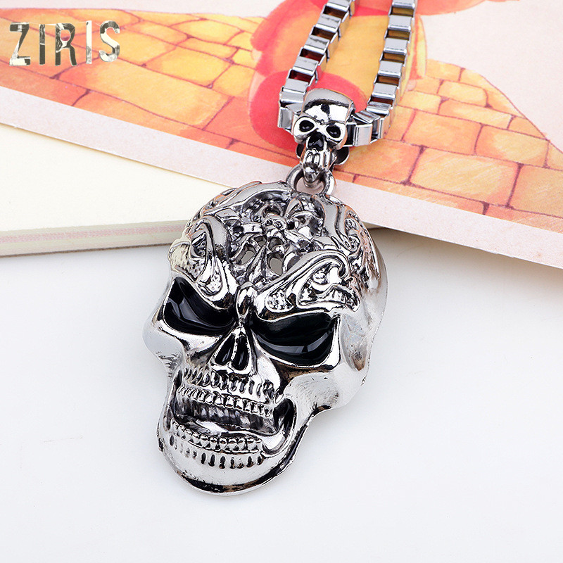 ZIRIS The new Europe and the United States long hip hop necklace pendant wish amazon platform skulls non-mainstream man sautoir