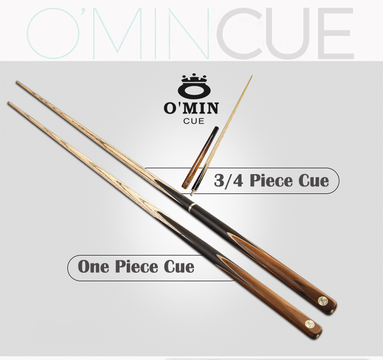 O'MIN STAR MARKS 3/4 Piece/One Piece Snooker Cue Billiard Cue Stick with Case with Extension 10mm 9.5mm Tip 145 cm 3 Years Ash