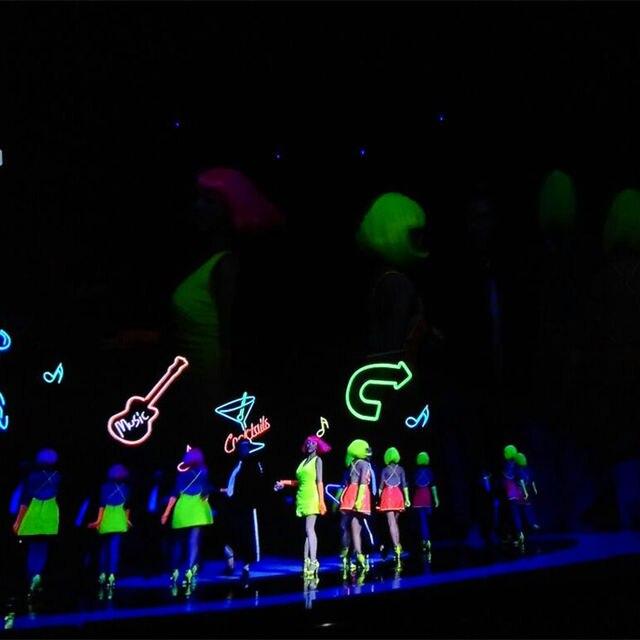 Halloween UV Temporary Tattoo Blacklight Paint Kit 6 Tubes Colors Set Neon Body Face Reactive 1oz Tube