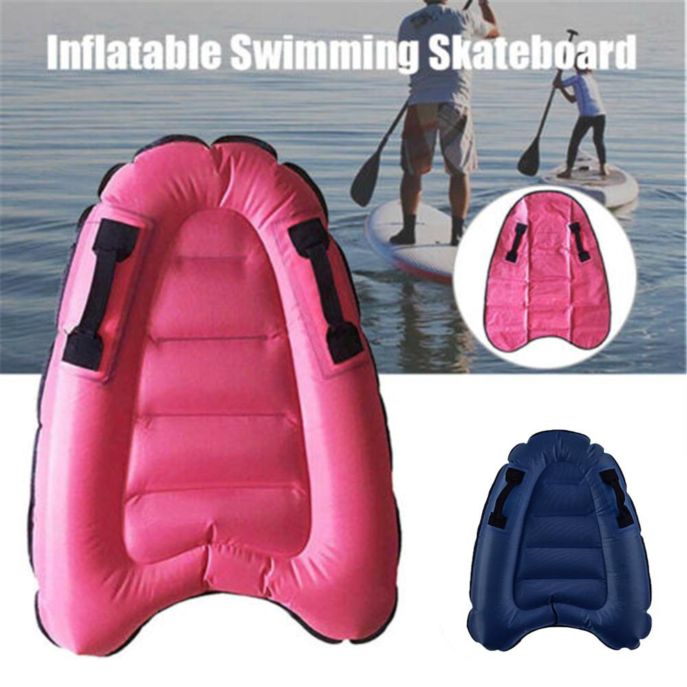 Inflatable Mat Surf Water Inflatable Floating Row Surfboard Lounge Swim Pool Beach Chair Float Lounger Raft Water Bed J26