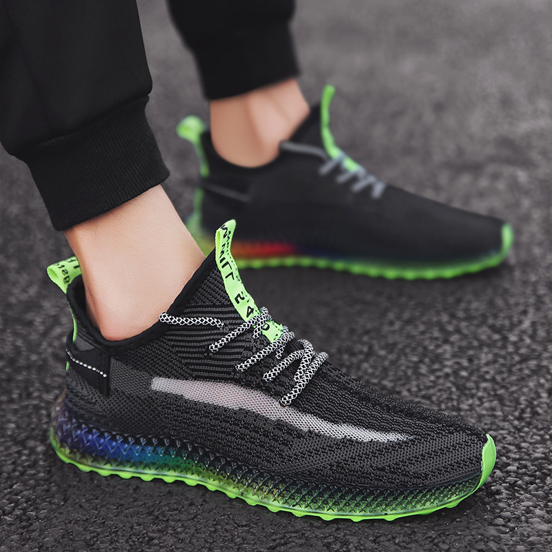 Image 4 - Summer 4D Print Flying Weave Men's Shoes lightweight walking sneakers Color Fruit Frozen Bottom Shoes Breathable zapatillas-in Men's Casual Shoes from Shoes