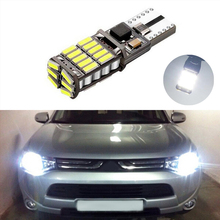 1X T10 W5W 4014smd LED Clearance Light with Projector Lens For mitsubishi asx lancer 9 10 pajero outlander l200 colt galant