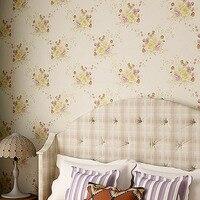 beibehang PVC waterproof wallpaper warm living room bedroom garden flower wallpaper American country den sofa backdrop wallpaper