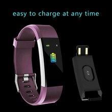лучшая цена Bluetooth Smart Bracelet Smart Wristband Band Heart Rate Blood Pressure Monitor Touch Screen Step Time Watch Fitness Tracker