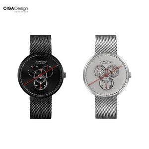 Image 2 - מקורי Youpin CIGA שעון זמן מכונה שלושה הילוך עיצוב פשוט קוורץ שעון אחד מצביע עיצוב מתכוונן תאריך שעונים H24
