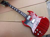 Wholesale New Left Handed 12 String Electric Guitar SG Mahogany Body In Red 110508