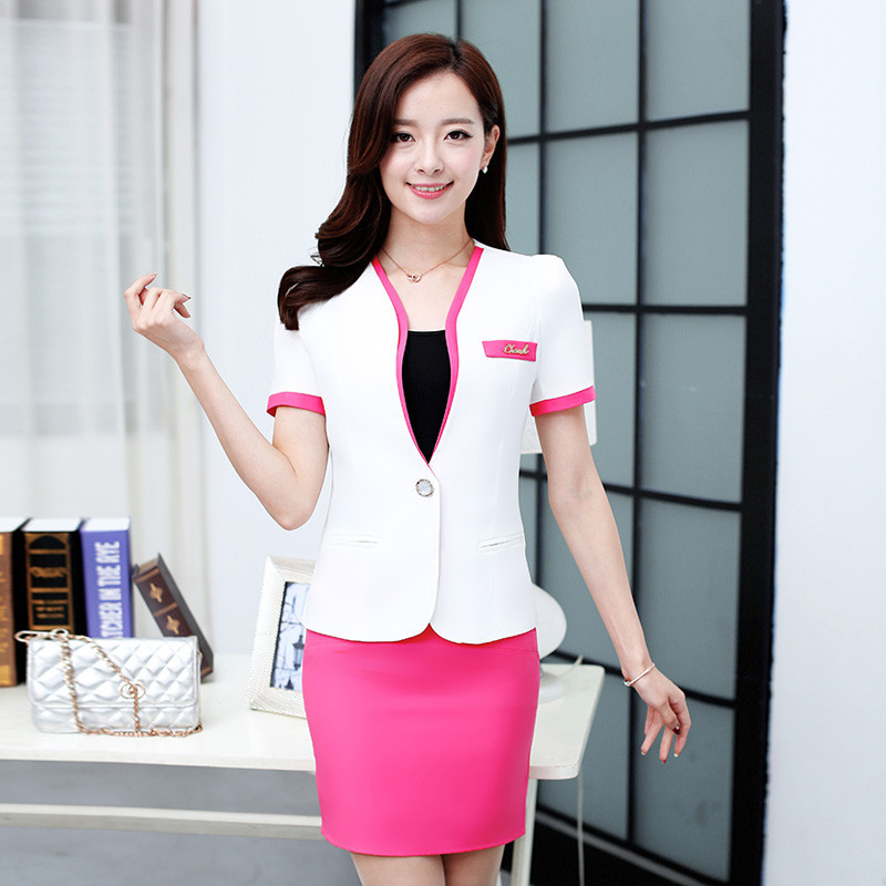 b9ca07d6b820 Women Skirt Suits High Quality Candy Color Conjuntos Femininos Com Saia Women  Suits Office Uniform Style Elegant Blazer Feminino-in Skirt Suits from  Women s ...