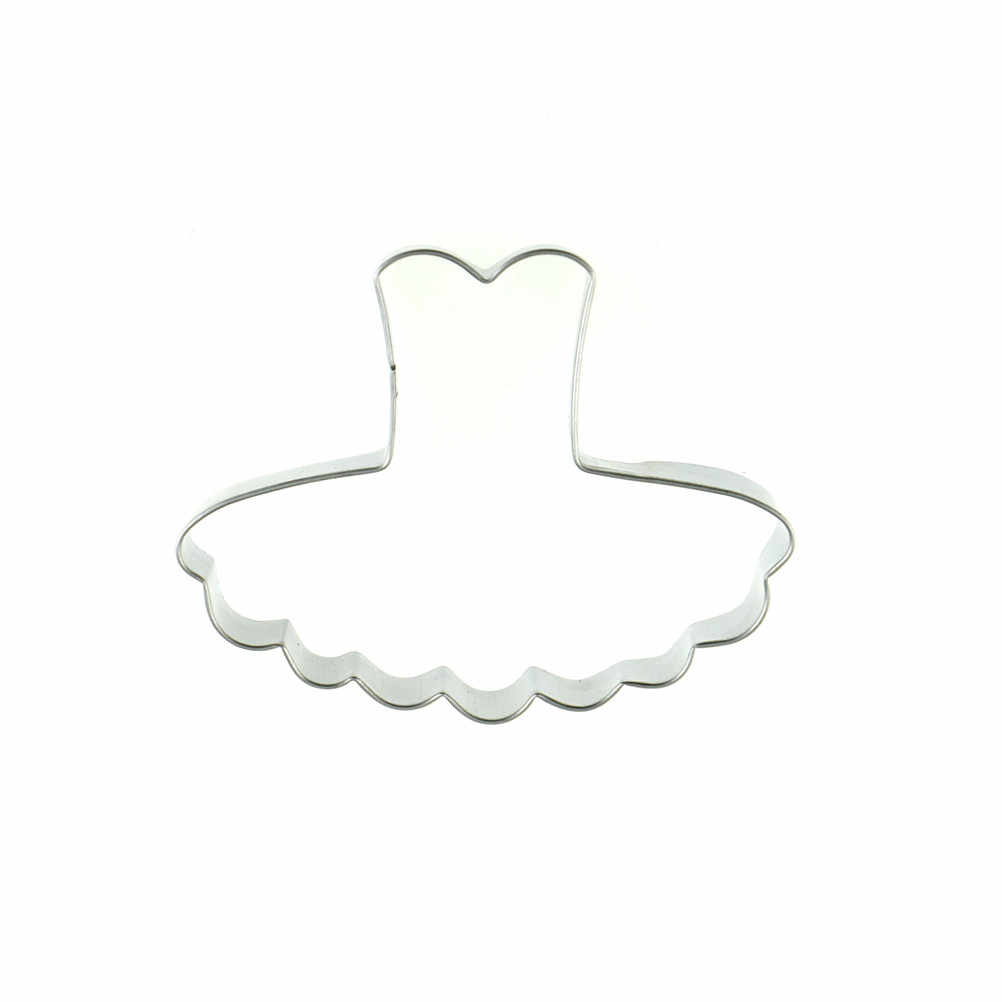 Yeni çerez kesici bisküvi kalıp kız favori kurabiye kesici Metal bale elbise