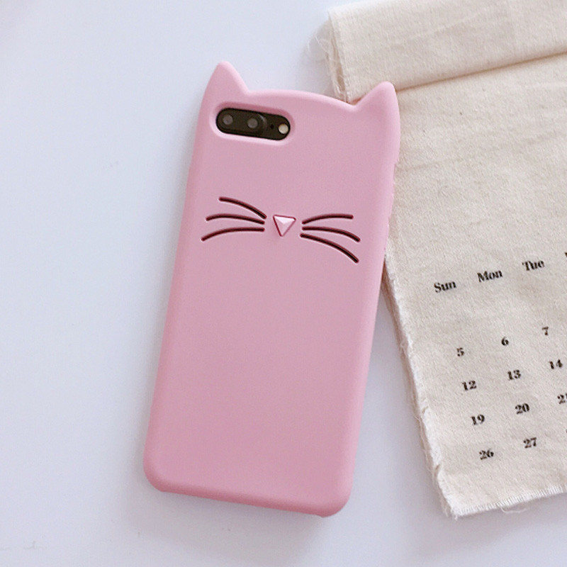3D Cute Cartoon Cat Soft Silicone Case For OPPO A3S A5 A83 A79 A73 A59 A57 A39 R9 R9S R11 R11S Plus R15 R17 F1S F3 F5 F7 F9 Case