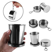 Mini Stainless Steel Wine Glasses Portable Outdoor Camping Picnic Travel Folding Collapsible Metal Drinking Cups Telescopic Mug