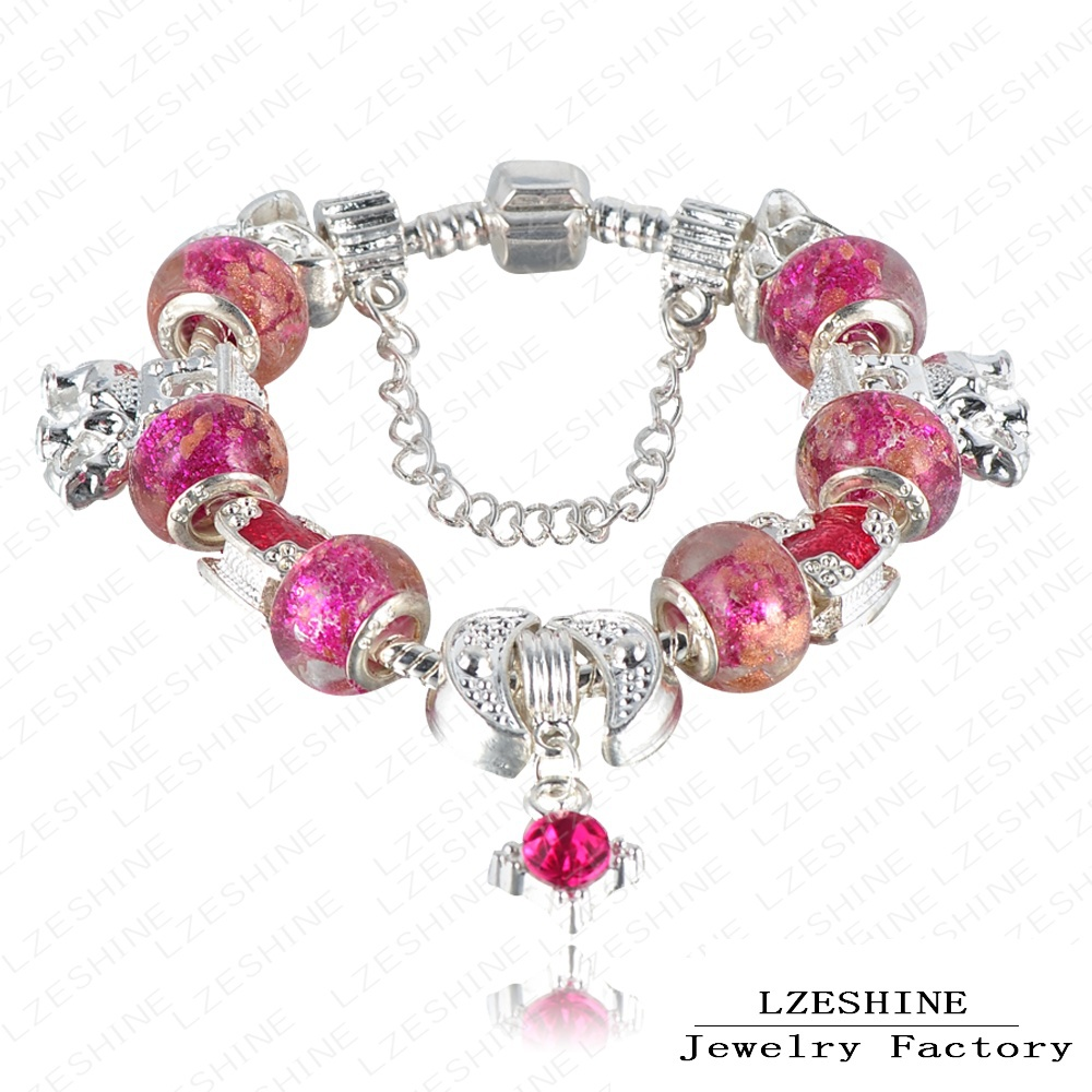 Boy And Girl Love Bracelet Fuchsia Crystal Enamel Bijouterie Cute ...