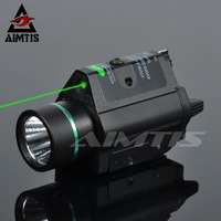 AIMTIS Tactical M6 Pistol Light Hunting Airsoft WeaponLight with 532nm Green Laser Rifle Gun Flashlight Combo Green Laser