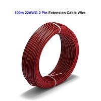 2 3 4 5 6 Pin Extension Cable 100m 22AWG Extend Wires For Power Battery Case LED Driver Bulb Lamp LED Strip Lights