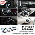 3D Автомобилей Клей Стикера Эмблемы M Power Производительность Логотип Двери Фиксатор Крышки AC Ручка зажигания Планки Для BMW 1 3 5 6 7 серии X M3 M5 GT
