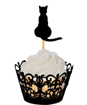 cheap <font><b>cats</b></font> <font><b>Cupcake</b></font> <font><b>Toppers</b></font> Wedding bridal Shower Baby Shower Birthday Party treat food picks decorations BT010 image