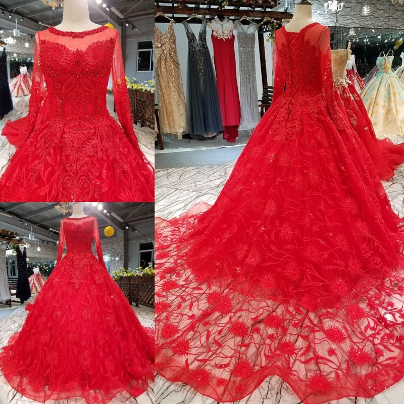 Red And White Lace Wedding Dress: New Fashion Red Cut Out Lace Wedding Dress Vintage