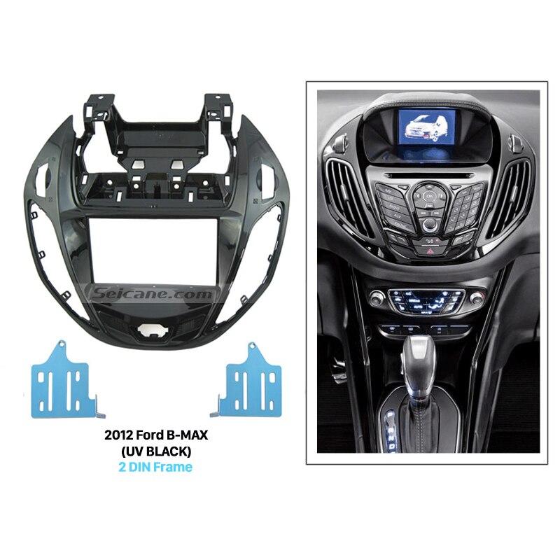 Seicane UV Black Double Din Car Radio Fascia Dash Mount