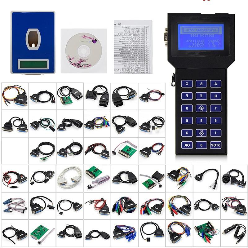 Professional Tacho Pro 2008 July Universal Dash Programmer UNLOCK Backlit display Car mileage meter Odometer Programmer Full Set