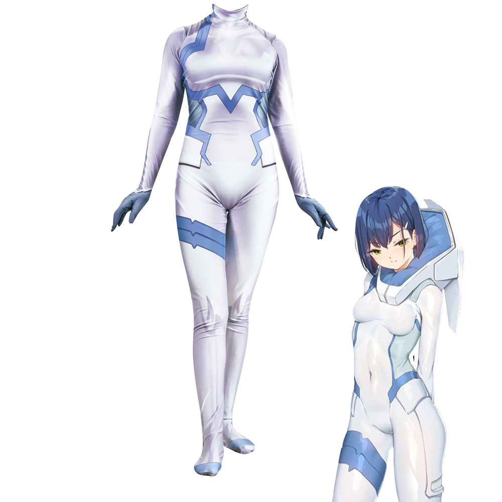 3D Printed DARLING in the FRANXX ICHIGO Cosplay Costume Women Jumpsuits halloween Zentai Bodysuit