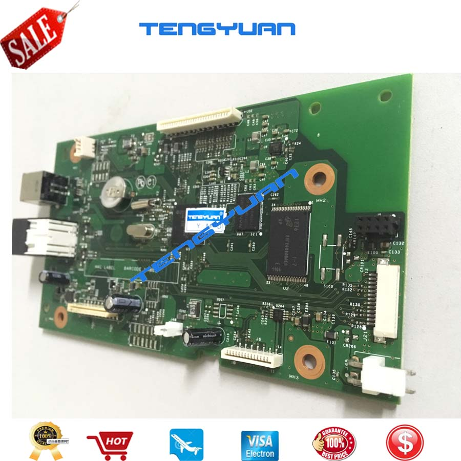 Free shipping Formatter Board for HP LaserJet Pro MFP M127 M128 M127FW M128FW CZ181-60001 formatter logic board print parts