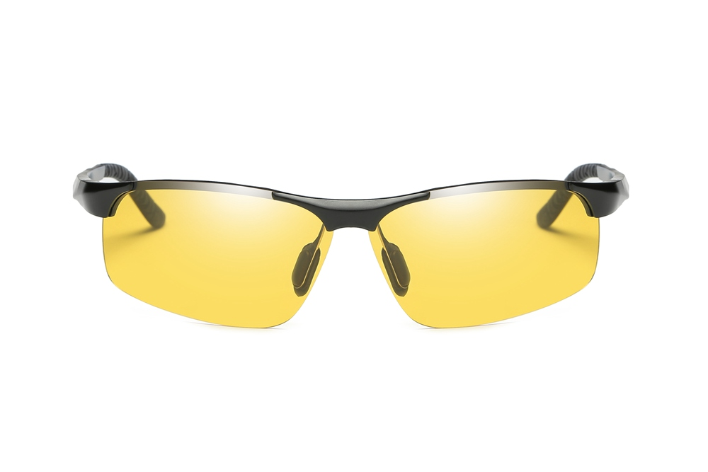 f334b9587fd Details about 2018 Night Vision Polarized Photochromic Sunglasses Driving  Semi-Rimless