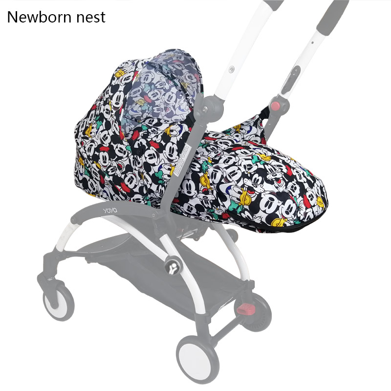 Landaus bébé naissance nid nouveau-né pour Babyzen yoyo + Yoya Babytime landaus panier poussette accessoires hiver sac de couchage