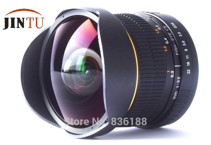 JINTU 8mm Fisheye Fix Lens for Canon EOS 80D 70D 60D 7D 6D 5D T6 T6i T6s T5i T5 T3i DSLR Camera 2 Years Warranty + Free Case Bag самокат 21st scooter skl l 021 2