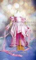GUNDAM SEED Lacus Clyne Cosplay Vestido de Traje de Las Mujeres Falda Larga Vestido de Boda Rode Vestido de Noche