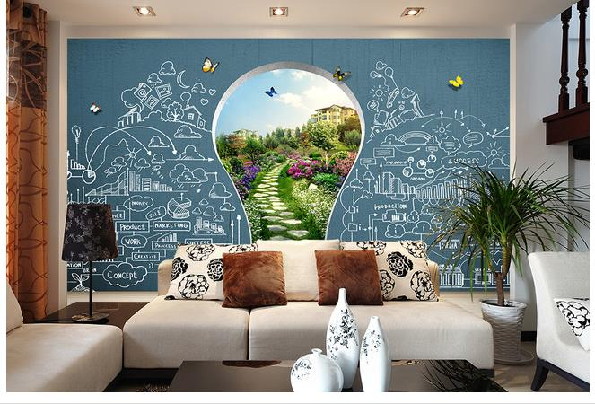 School Education Childrens Playground Tv Background Wall ...