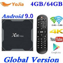Android 9,0 ТВ приставка X96 Max Amlogic S905X2 Smart 4K медиаплеер 4 Гб ОЗУ 64 Гб ПЗУ X96Max телеприставка 2G16G четырехъядерный 2,4G и 5G Wifi