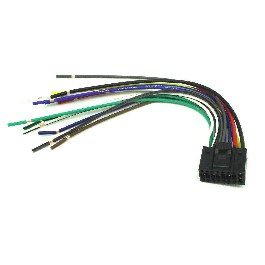 player 16 pin RADIO CAR AUDIO STEREO WIRE HARNESS for ... on kenwood mp205 manual, kenwood kdc 255, kenwood vr 205 manual,