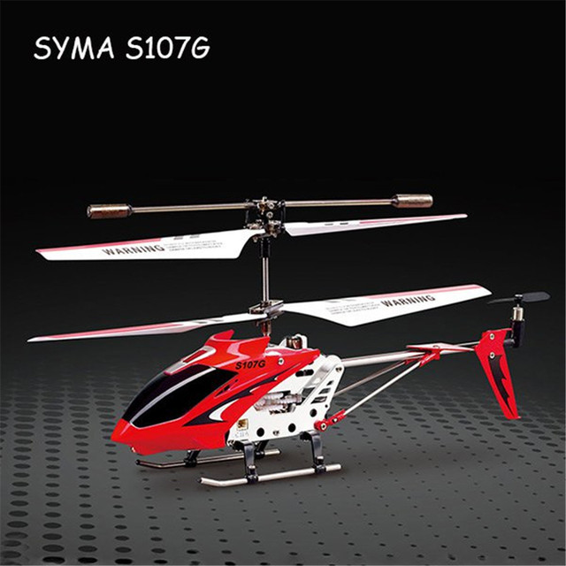 Syma S107G RC Helicopter 3CH Mini Indoor Remote Control Co-Axial Metal RC Helicopter Light Built in Gyroscope