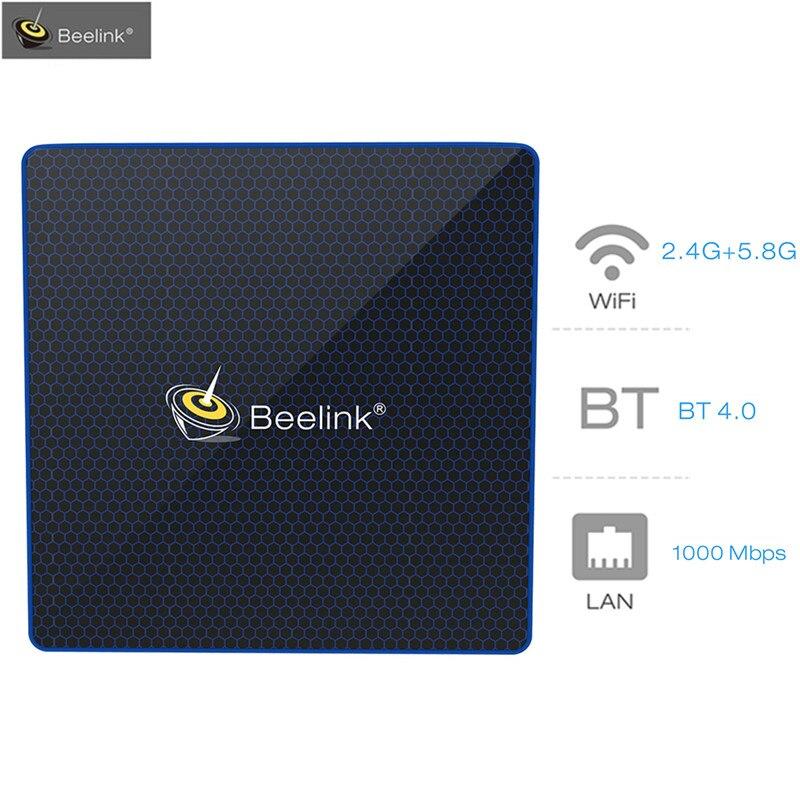 Beelink M1 Mini PC Windows10 TV Box Intel Apollo Lake Celeron N3450 Graphics 500 Dual Bluetooth 4GB/6GB 64GB Set Top Box HDMI2.0 beelink z83 ii mini pc tv box with intel atom x5 z8350 processor cpu tv box 2g 32g memory support windows 10 and linux system