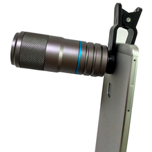 New Matel HD 12x Phone Telephoto Telescope Lens Super wide-Angle optical Camera 90 Degree Universal Clip for Samsung s6 s7 edge