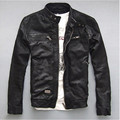 Factory Men Leather Jacket Genuine Real Sheep Goat skin Brand Black Male Bomber Motorcycle Biker Man's Coat Autumn