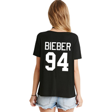 VI FASHION H908 Summer New brand Women BlEBER 94 Print on Back White And Black Two Colors Leisure Punk T Shirt