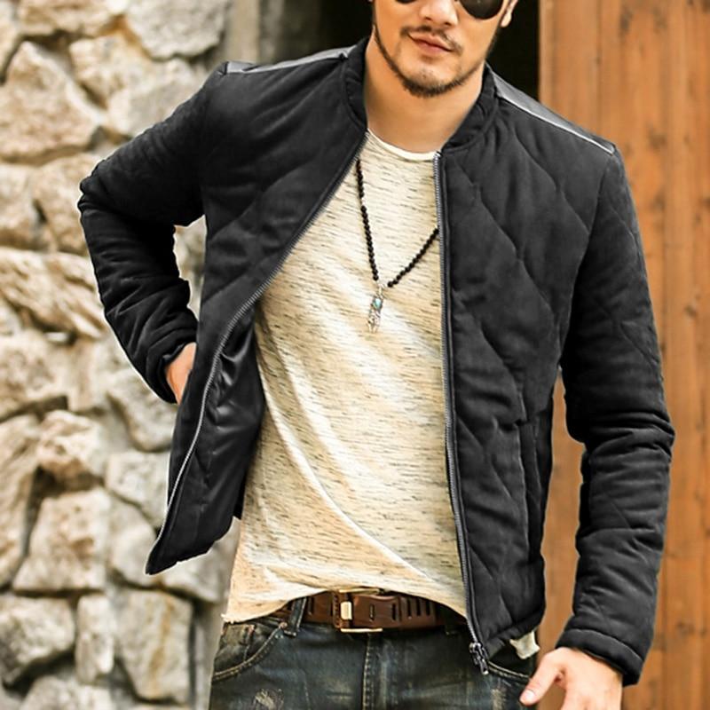 2018 Nouvelle Arrivée Automne Hiver Hommes de Vestes Solide Mode Coton Manteaux Casual Male Support Mince Col Veste Outerdoor Manteau