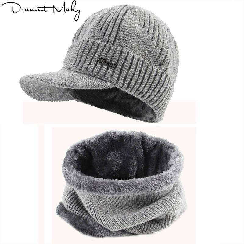 Sports Winter Hats   Skullies     Beanies   Hat Winter   Beanies   For Men Women Wool Scarf Caps Balaclava Mask Gorras Bonnet Knitted Hat