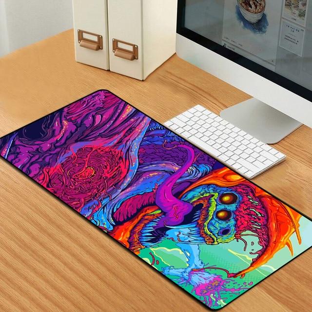 Sovawin 80x30cm XL Lockedge grand tapis de souris de jeu ordinateur Gamer CS GO clavier tapis de souris Hyper bête bureau tapis de souris pour PC
