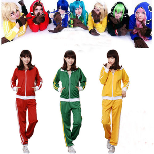 9 Colors Vocaloid unisex Cosplay Costume Matryoshka Megurine Hoodie Hatsune Miku Coat Vocaloid Candy Color Jacket Sportswear