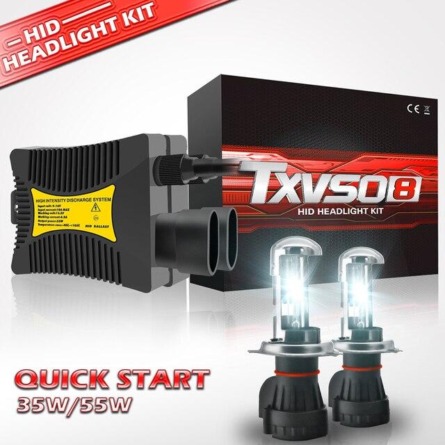 H7 Xenon Bulb H1 H3 H4 Xenon Headlight Ballast kit HID Light Lamp H11 55W Headlamps for Motorcycle 35W 9005 9006 9004 9007 H27