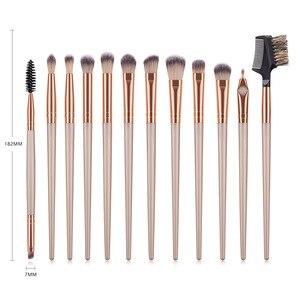 Image 5 - 12Pcs แปรงแต่งหน้าชุดเครื่องมือเครื่องสำอางค์อายแชโดว์ Foundation Blush Blending Beauty Make Up ชุดแปรง Maquiagem DROP เรือ